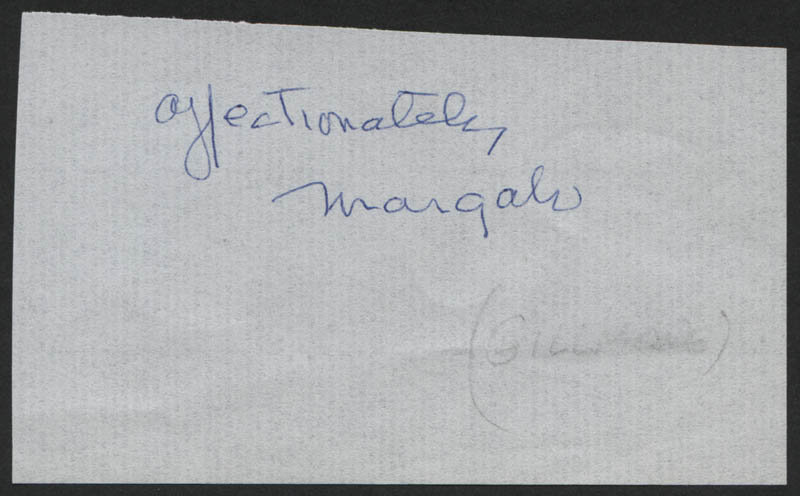 Image 1 for Margalo Gillmore - Autograph Sentiment Signed - HFSID 318202