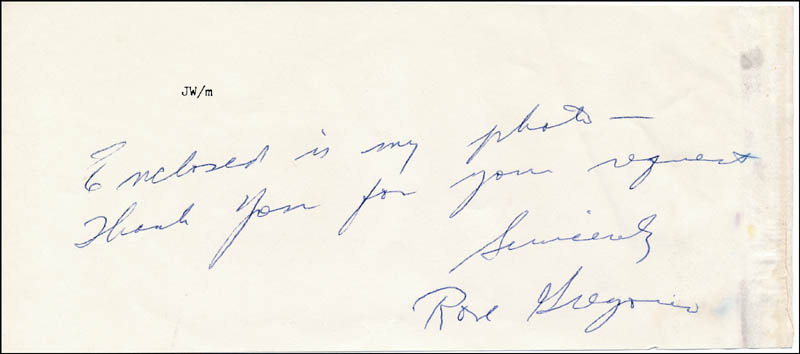 Image 1 for Rose Gregorio - Autograph Note Signed - HFSID 318795