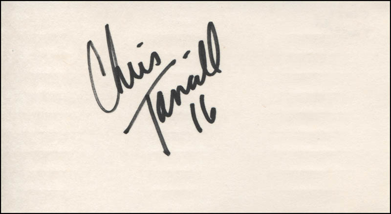Image 1 for Chris Tancill - Autograph - HFSID 319284