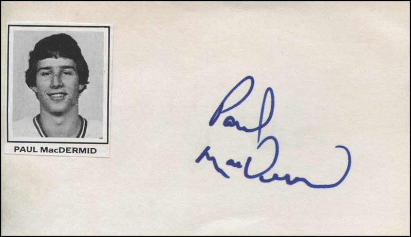 Image 1 for Paul Macdermid - Autograph - HFSID 319390