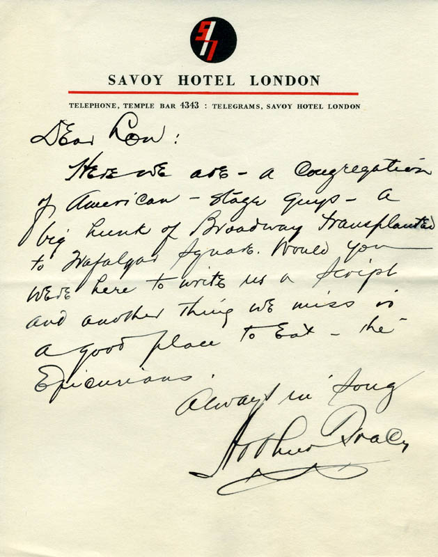 Image 1 for Arthur Tracy - Autograph Letter Signed - HFSID 31947
