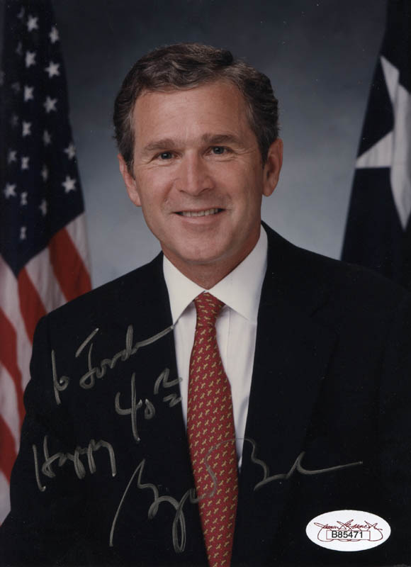 Image 1 for President George W. Bush - Autographed Inscribed Photograph - HFSID 320029