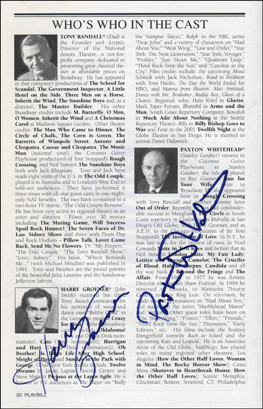 Image 3 for Caught In The Net Play Cast - Show Bill Signed with co-signers - HFSID 320044