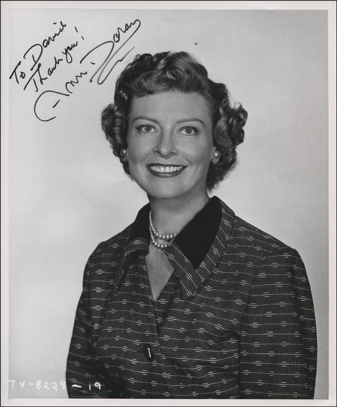 Image 1 for Ann Doran - Autographed Inscribed Photograph - HFSID 320091