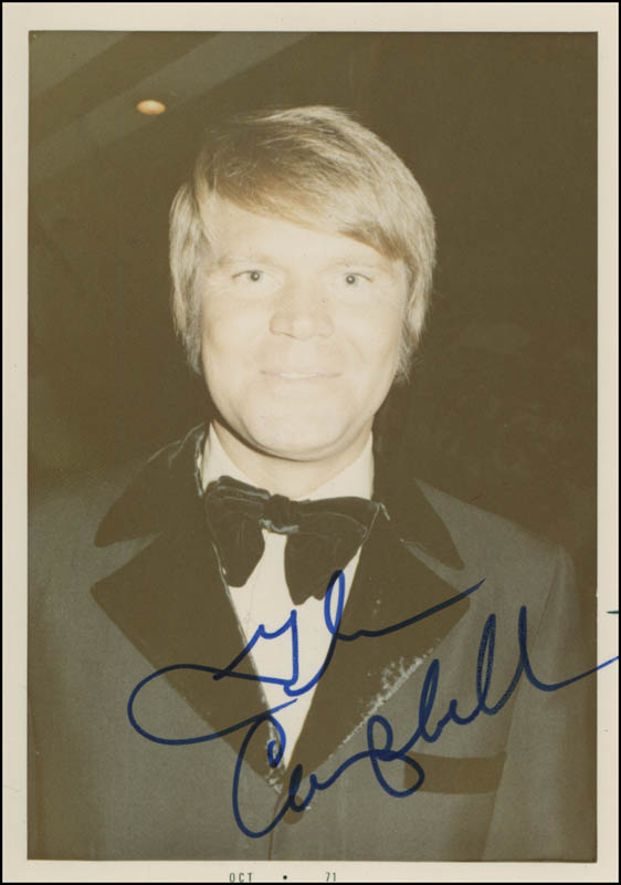 Image 1 for Glen Campbell - Autographed Signed Photograph 1971 - HFSID 320104
