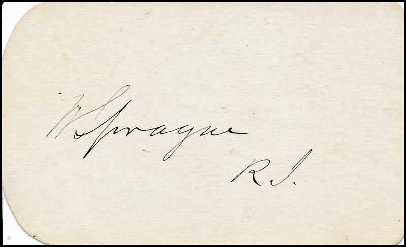 Image 1 for General William Sprague - Autograph - HFSID 320348