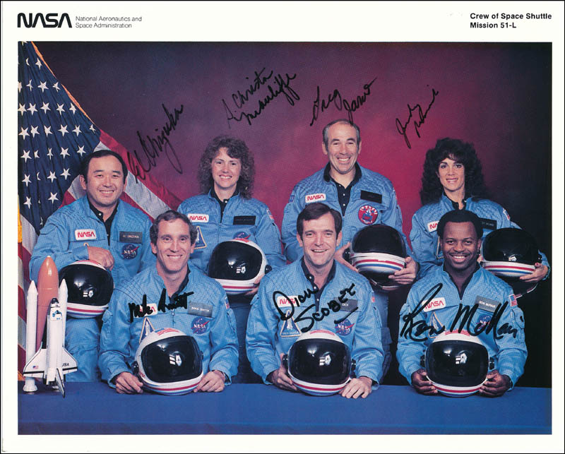 Image 1 for Space Shuttle Challenger - Sts - 51l Crew - Autographed Signed Photograph with co-signers - HFSID 320402