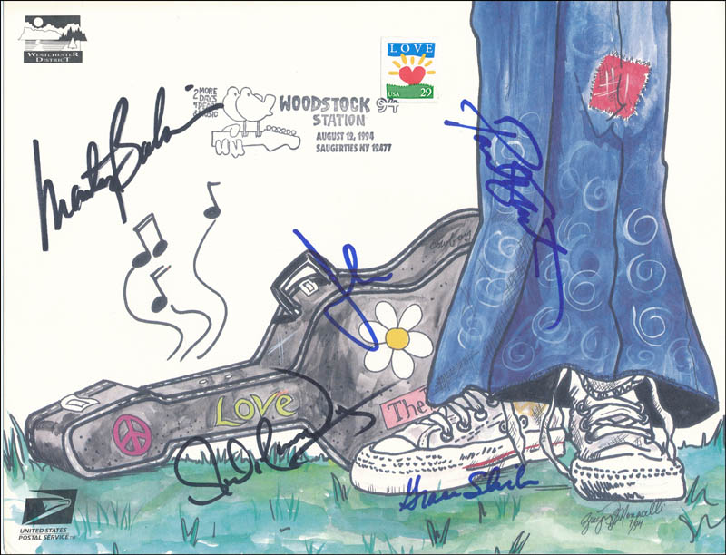 Image 1 for Jefferson Airplane - Commemorative Envelope Signed with co-signers - HFSID 320681