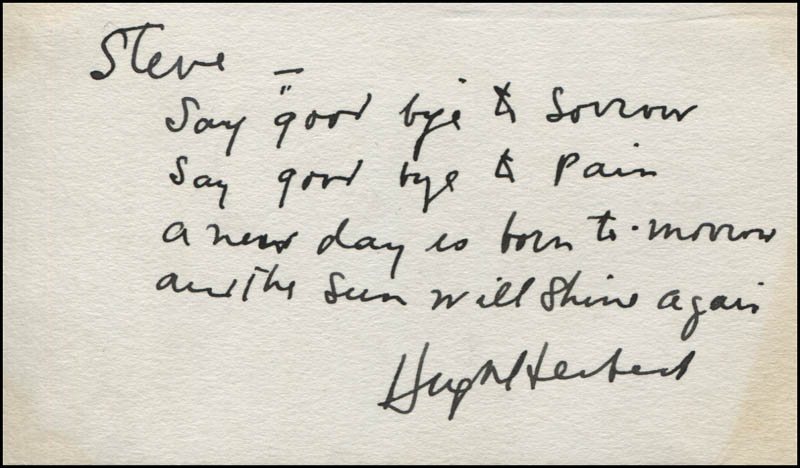 Image 1 for Hugh Herbert - Autograph Quotation Signed - HFSID 320703