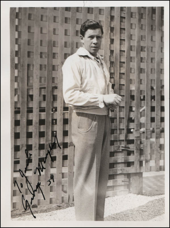 Image 1 for George Murphy - Autographed Inscribed Photograph 1939 - HFSID 320727