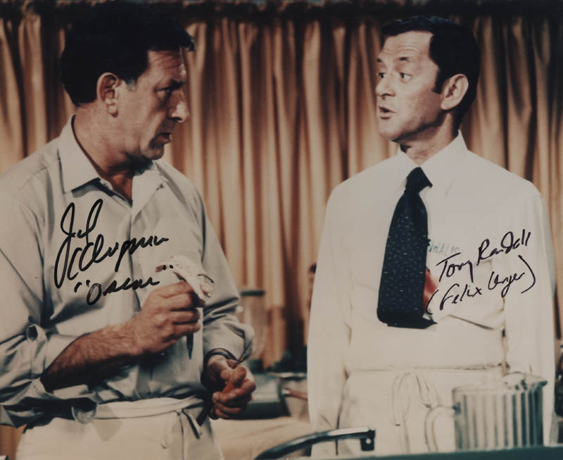 Image 1 for The Odd Couple TV Cast - Autographed Signed Photograph co-signed by: Jack Klugman, Tony Randall - HFSID 320734
