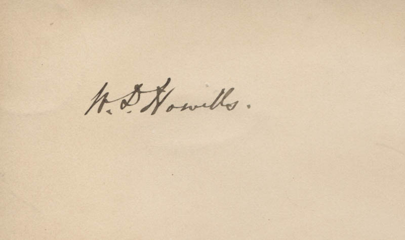 Image 1 for William D. Howells - Autograph - HFSID 320737