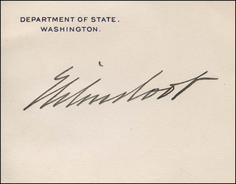 Image 1 for Elihu Root - Printed Card Signed In Ink - HFSID 320768