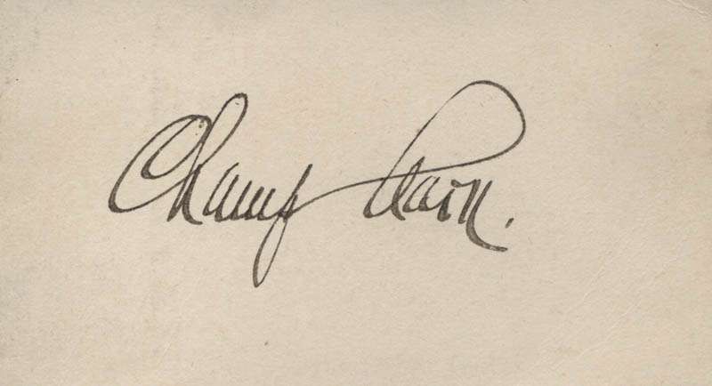 Image 1 for James B. 'Champ' Clark - Autograph - HFSID 320789