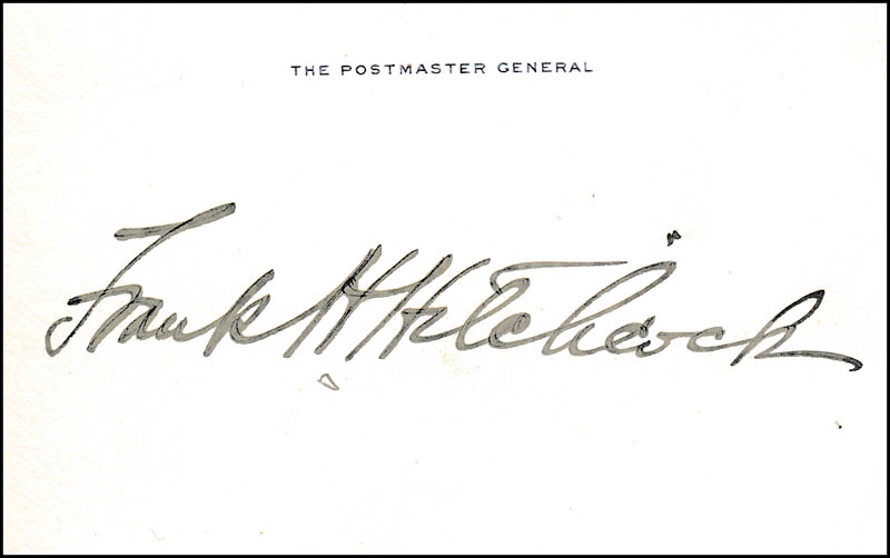 Image 1 for Frank H. Hitchcock - Printed Card Signed In Ink - HFSID 320806