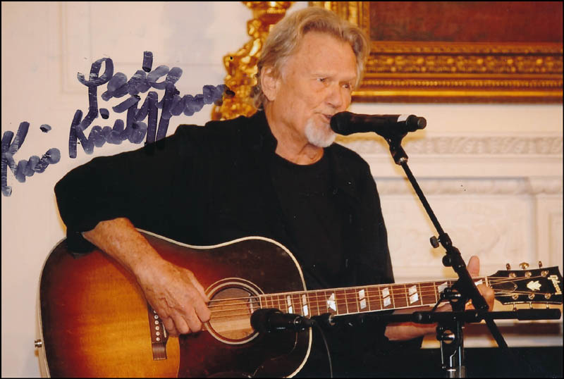 Image 1 for Kris Kristofferson - Autographed Signed Photograph - HFSID 320891
