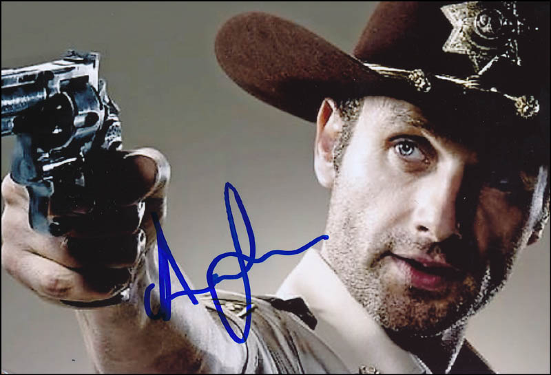 Photographs Energetic Andrew Lincoln Signed 8x10 Photo Picture Autographed Pic Autographs-original