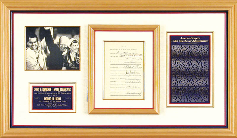 Image 1 for President Dwight D. Eisenhower - Document Signed with co-signers - HFSID 32098