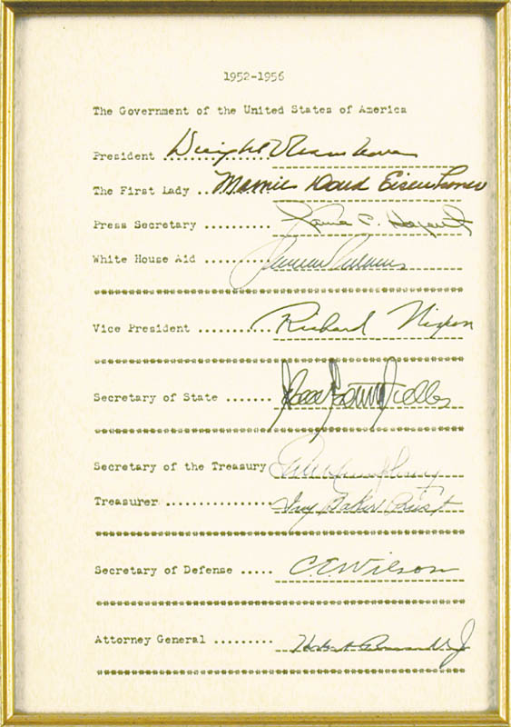 Image 4 for President Dwight D. Eisenhower - Document Signed with co-signers - HFSID 32098