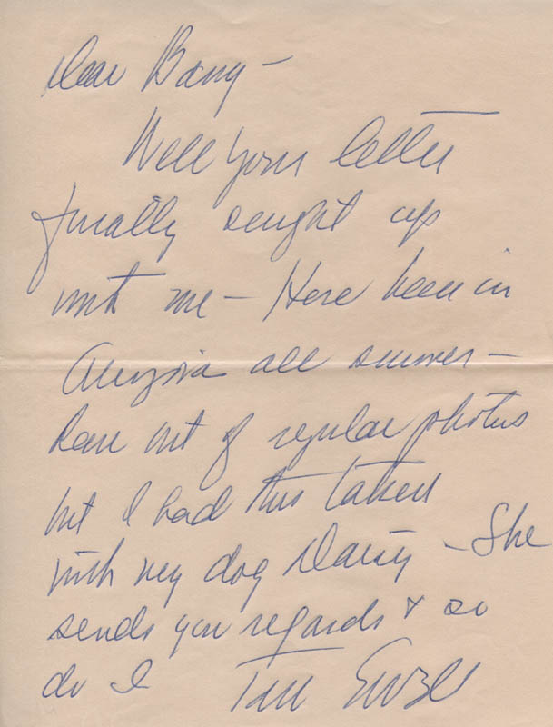 Image 1 for Tom Ewell - Autograph Letter Signed - HFSID 321021