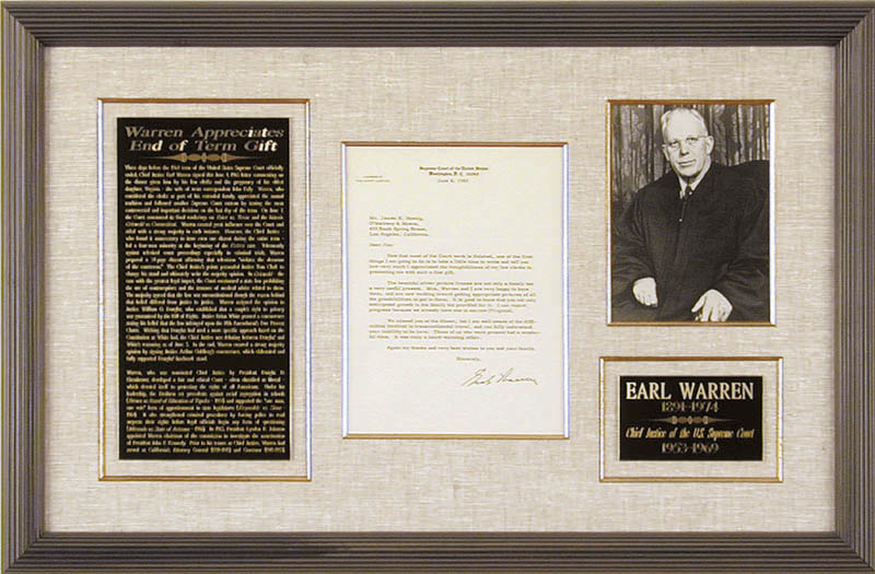 Image 1 for Chief Justice Earl Warren - Typed Letter Signed 06/04/1965 - HFSID 32106