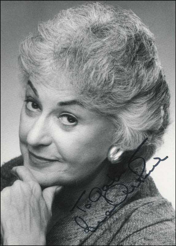 Image 1 for Beatrice 'Bea' Arthur - Autographed Inscribed Photograph - HFSID 321145