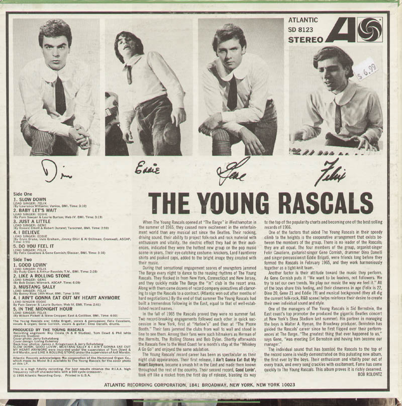 Image 3 for The (Young) Rascals - Record Cover Signed with co-signers - HFSID 321173