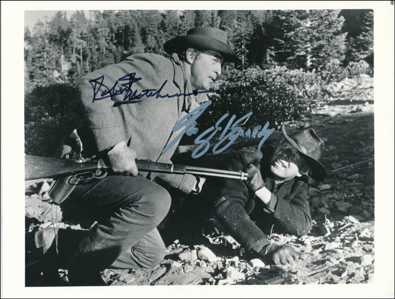 Image 1 for The Good Guys And The Bad Guys Movie Cast - Autographed Signed Photograph co-signed by: George Kennedy, Robert Mitchum - HFSID 321232