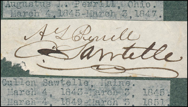 Image 1 for Augustus L. Perrill - Autograph co-signed by: Cullen Sawtelle - HFSID 321242