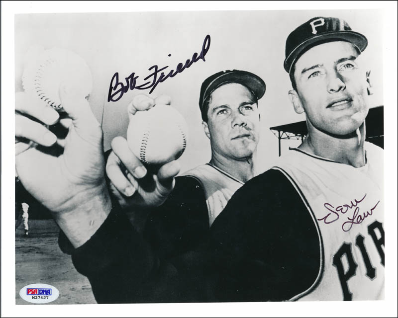 Image 1 for The Pittsburgh Pirates - Autographed Signed Photograph co-signed by: Bob 'Warrior' Friend, Vern 'Deacon' Law - HFSID 321329