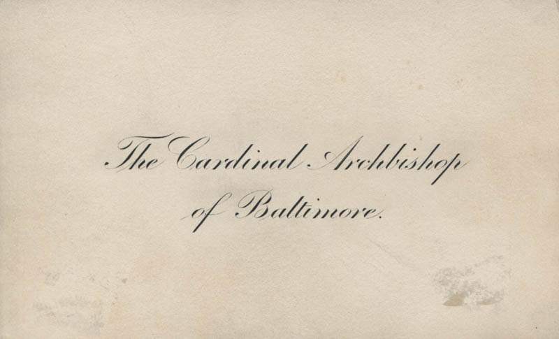 Image 3 for James Cardinal Gibbons - Autograph Sentiment On Calling Card Signed - HFSID 321353