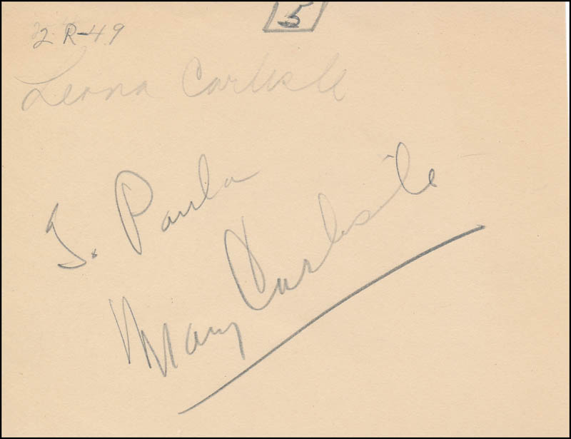 Image 1 for Mary Carlisle - Inscribed Signature - HFSID 321361