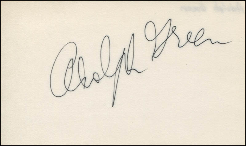 Image 1 for Adolph Green - Autograph - HFSID 321386