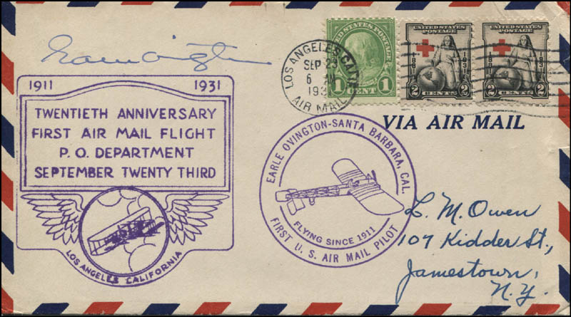 Image 1 for Earle Ovington - Commemorative Cover Signed - HFSID 321418