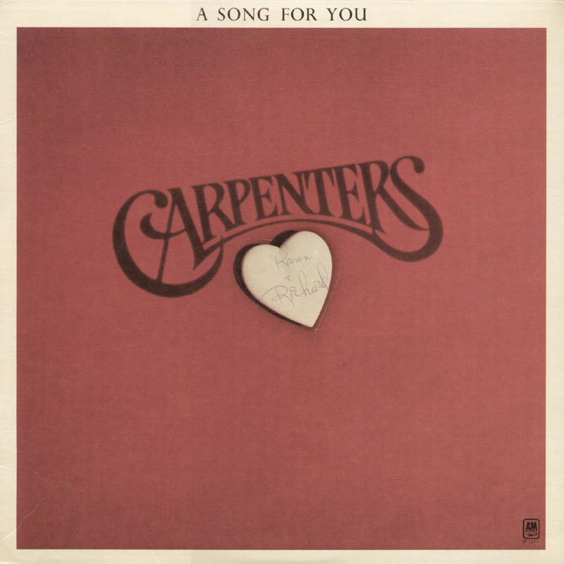 Image 1 for Karen Carpenter - Record Album Cover Signed co-signed by: Richard Carpenter - HFSID 321453