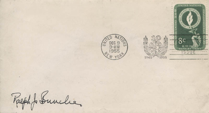 Image 1 for Ralph J. Bunche - First Day Cover Signed - HFSID 321472