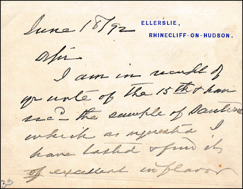 Image 1 for Vice President Levi P. Morton - Autograph Letter Signed 06/18/1892 - HFSID 321484