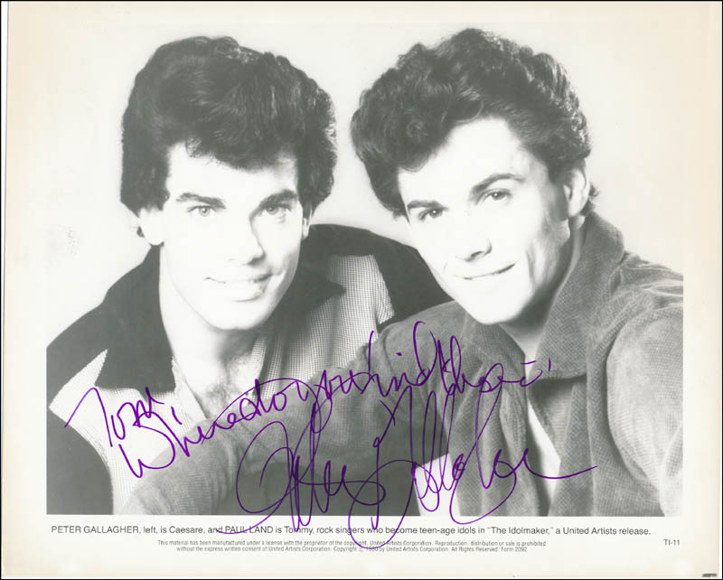 Image 1 for Peter Gallagher - Autographed Inscribed Photograph - HFSID 321505