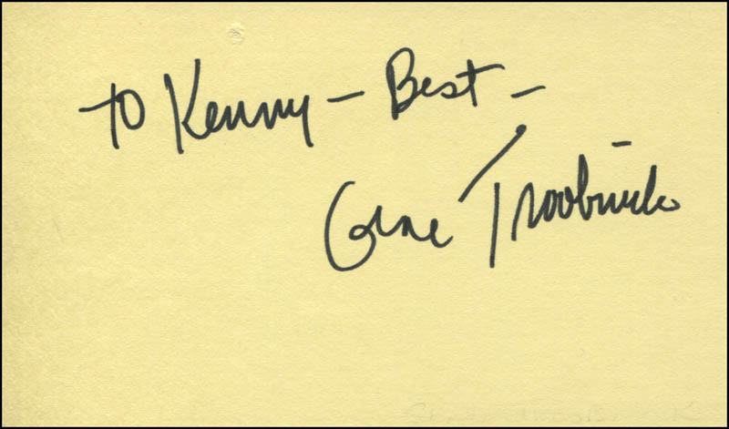 Image 1 for Gene Troobnick - Autograph Note Signed - HFSID 321542