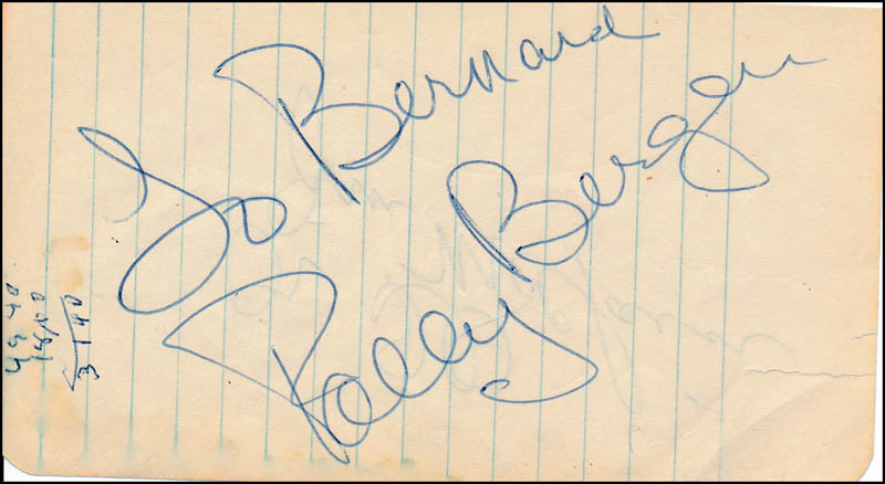 Image 1 for Polly Bergen - Inscribed Signature - HFSID 321556