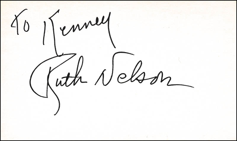 Image 1 for Ruth Nelson - Inscribed Signature - HFSID 321583