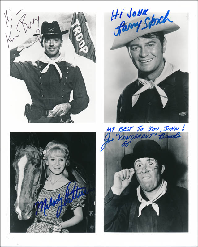 Image 1 for F Troop TV Cast - Printed Photograph Signed In Ink co-signed by: Melody Patterson, Larry Storch, Ken Berry, Joe Brooks - HFSID 321655
