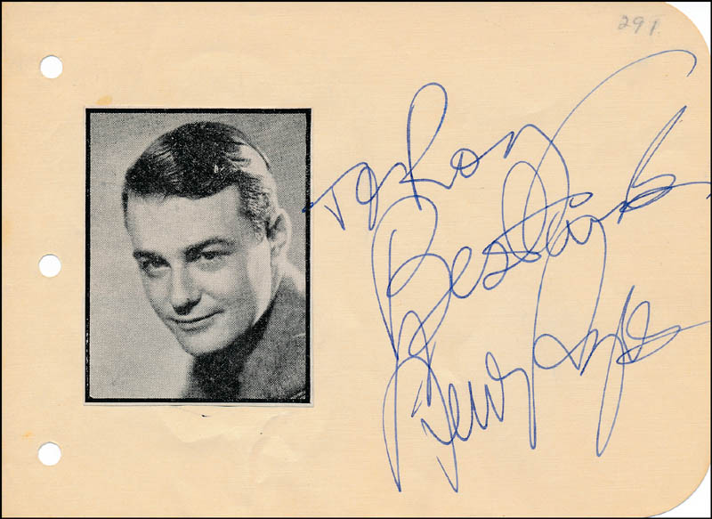Image 1 for Lew Ayres - Autograph Note Signed - HFSID 321664