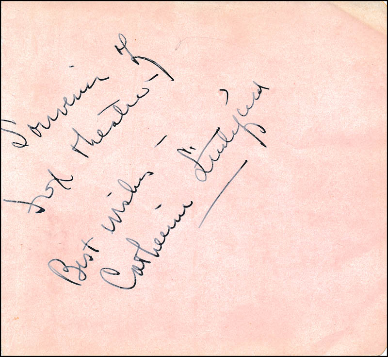 Image 1 for Catherine Littlefield - Autograph Sentiment Signed - HFSID 321679