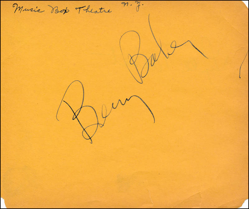 Image 1 for Benny Baker - Autograph co-signed by: Lyle Talbot - HFSID 321689