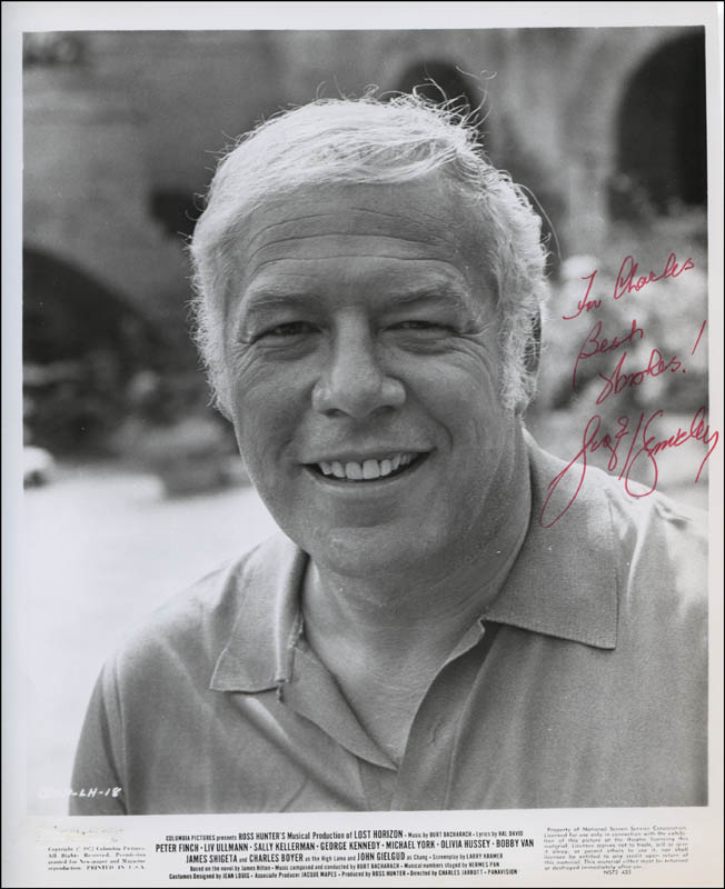 Image 1 for George Kennedy - Inscribed Printed Photograph Signed In Ink - HFSID 321717