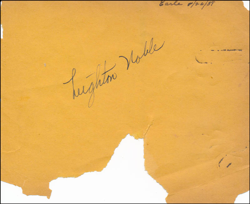 Image 1 for Leighton Noble - Autograph Circa 1939 - HFSID 321721
