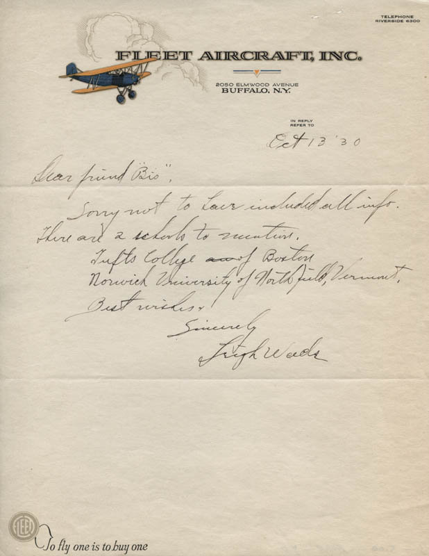 Image 1 for Major General Leigh Wade - Autograph Letter Signed 10/13/1930 - HFSID 321811