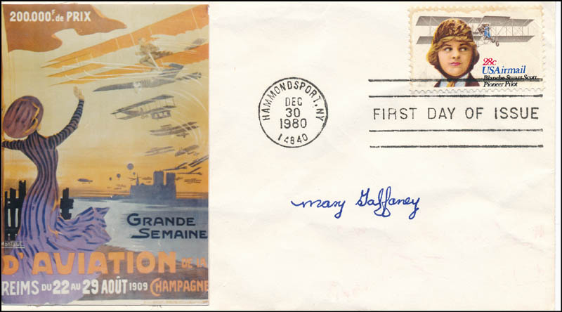 Image 1 for Mary Gaffaney - First Day Cover Signed - HFSID 321819