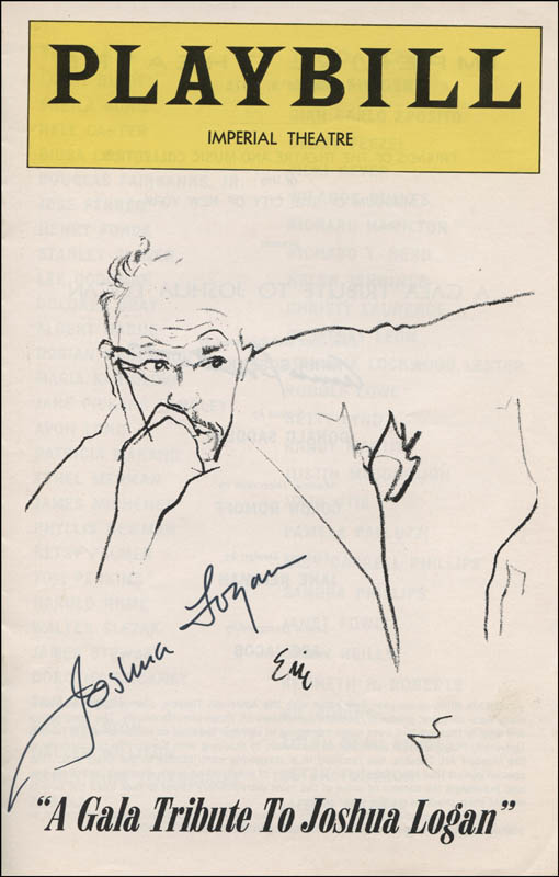 Image 1 for Joshua Logan - Show Bill Signed co-signed by: Anna Sosenko - HFSID 321864